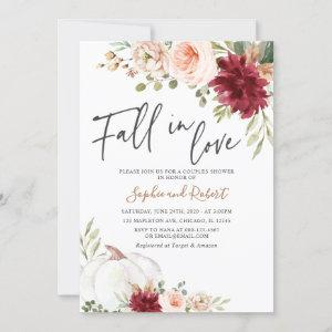 Fall in Love Pumpkin Autumn Bridal Couples Shower Invitation starting at 2.50