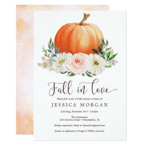 Fall in Love Pumpkin Bridal Shower Invitations starting at 2.35