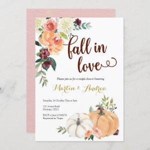 fall in love pumpkin couple shower invitation starting at 2.55