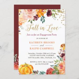 Fall in Love Pumpkin Floral Gold Engagement Party starting at 2.35