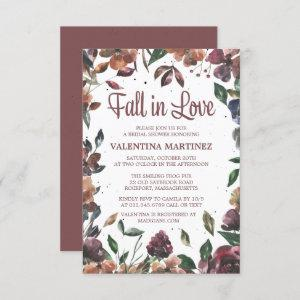 Fall in Love Purple Floral Bridal Shower Invitation starting at 1.95