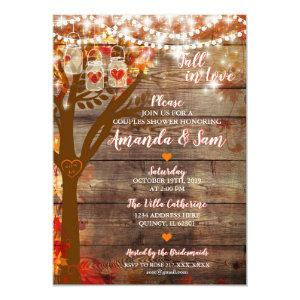 Fall in Love Rustic Bridal Shower Invitation starting at 2.70