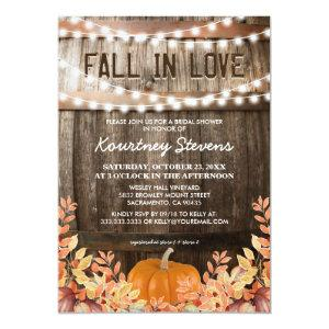 Fall in Love Rustic Fall Bridal Shower Invitation starting at 2.26