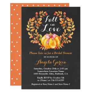 Fall in Love Rustic Pumpkin Bridal Shower Invite starting at 2.30