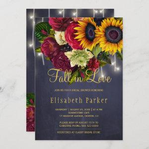 Fall in love rustic sunflower roses bridal shower invitation starting at 2.50