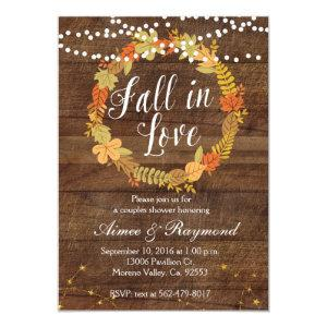 Fall In Love Shower Invitation starting at 2.66