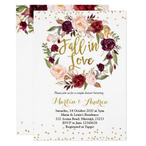 fall in love shower invitation starting at 2.25