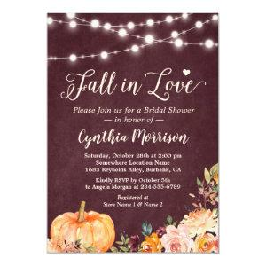 Fall in Love String Lights Floral Bridal Shower Invitation starting at 2.10
