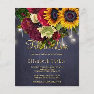 Fall in love sunflower roses BUDGET bridal shower starting at 0.61