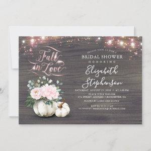 Fall in Love White Pumpkin Rustic Bridal Shower In Invitation starting at 2.40