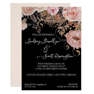 Fall Muted Floral Blush Rose Gold Couples Shower Invitation starting at 2.55