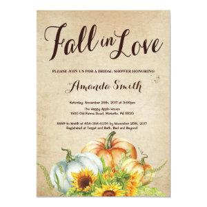 Fall Pumpkin Bridal Shower invitation starting at 2.35