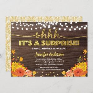 Fall surprise bridal shower thanksgiving party invitation starting at 2.25
