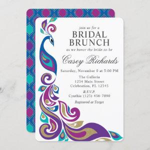 Fancy Peacock Purple and Teal Bridal Shower starting at 2.75
