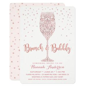 Faux Rose Gold Brunch & Bubbly Bridal Shower Invitation starting at 2.75