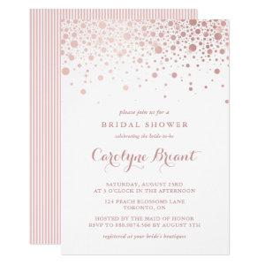 Faux Rose Gold Confetti Bridal Shower Invitation starting at 2.40
