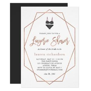 Faux Rose Gold Geometric | Lingerie Shower Invitation starting at 2.55