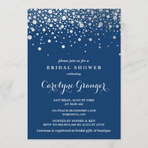 Faux Silver Foil Confetti | Navy Bridal Shower starting at 2.40