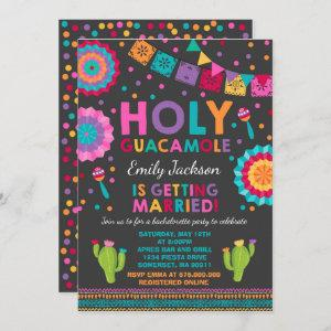 Fiesta Bachelorette Party Invite Holy Guacamole starting at 2.56