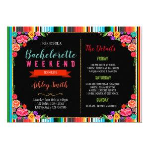 Fiesta bachelorette with Itinerary invitation starting at 2.50