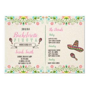 Fiesta bachelorette with Itinerary invitation starting at 2.56