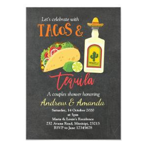 Fiesta Chalkboard Tacos and Tequila Invitation starting at 2.55