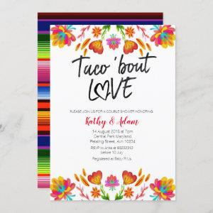 Fiesta colorful Taco about Love COUPLES SHOWER Invitation starting at 2.55