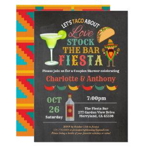 Fiesta stock the bar couples shower chalkboard invitation starting at 2.40