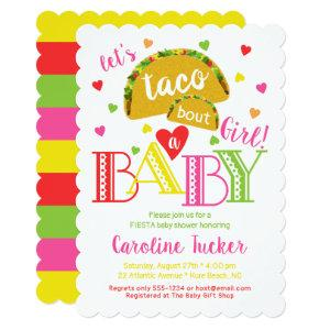 Fiesta Taco Bout a Baby Girl Shower Invitation starting at 2.91