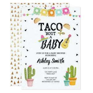 Fiesta Taco Bout Love Cactus Gold Baby Shower Invitation starting at 2.66