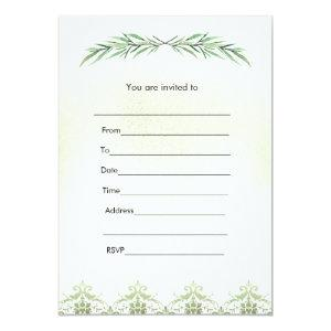 Fill in invitation greenery branch watercolor starting at 2.51