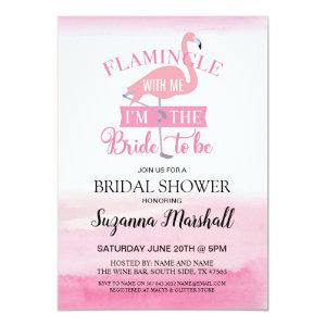 Flamingle With Me Bridal Shower Invite Flamingo starting at 2.51
