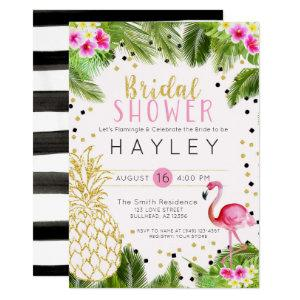 Flamingo Tropical Pineapple Bridal Shower Invite starting at 2.55