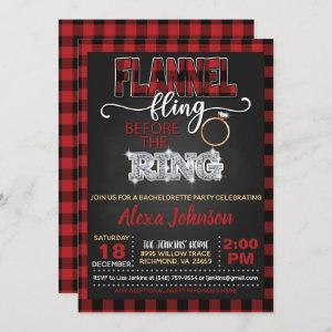 Flannel Fling Bachelorette Party  - Red starting at 2.50