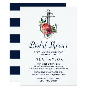 Floral Anchor | Autumn Bridal Shower Invitation starting at 2.51