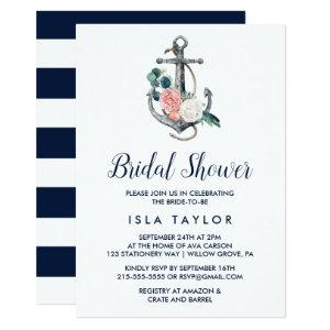Floral Anchor | Summer Bridal Shower Invitation starting at 2.51