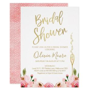 Floral and champagne bridal shower invitation starting at 2.10
