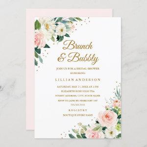 Floral Blush Gold Bridal Shower Brunch And Bubbly starting at 2.40