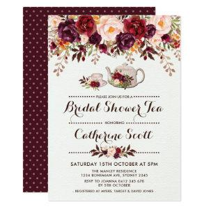 Floral Boho Bridal Shower Tea Party Invitation starting at 2.36