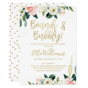 Floral Bridal & Bubbly Bridal Shower Invitation starting at 2.10