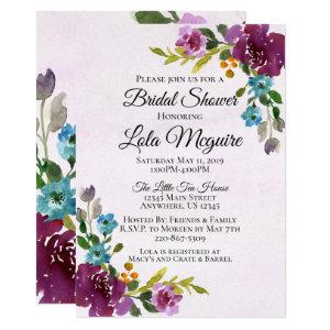 Floral Bridal Shower Invitation - Jewel Tones starting at 2.55