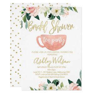 Floral Bridal Shower Tea Party Invitation starting at 2.10