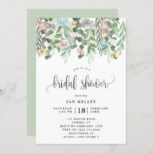 Floral Bridal Shower, Watercolor Cottage Flowers starting at 2.40
