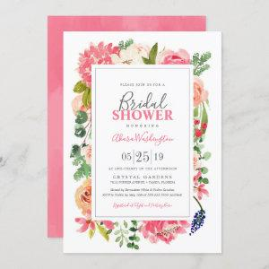 Floral Bright Watercolor Flowers Bridal Shower Invitation starting at 2.55
