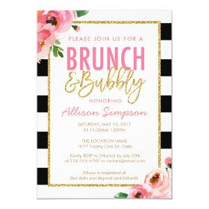 Floral Brunch and Bubbly Bridal Shower Invitation starting at 2.50
