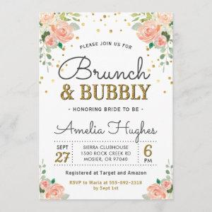 Floral Brunch and Bubbly Peony Gold Bridal Shower starting at 2.50