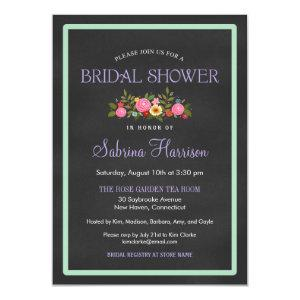 Floral Chalkboard Style Bridal Shower Invitations starting at 2.25