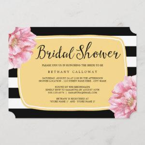 Floral Chic Bridal Shower Invitation / Yellow starting at 2.76
