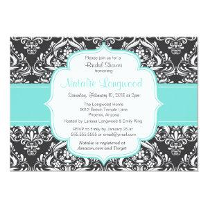 Floral Damask baby or bridal shower invitation starting at 2.77