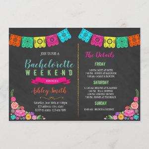 Floral fiesta bachelorette Itinerary invitation starting at 2.50
